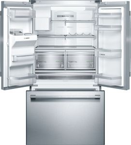 """B26FT50SNS Bosch 36"""" 800 Series French Door 25.0 Cu Ft. Refrigerator with VitaFresh and MultiAirFlow System - Stainless Steel"""