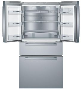 """B36CL80SNS Bosch 36"""" 800 Series 20.5 Cu Ft. Counter Depth French Door Refrigerator with VitaFreshPro and FlexBar - Stainless Steel"""