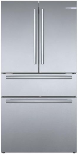 "B36CL80SNS Bosch 36"" 800 Series 20.5 Cu Ft. Counter Depth French Door Refrigerator with VitaFreshPro and FlexBar - Stainless Steel"