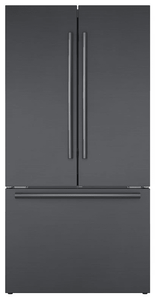 "B36CT80SNB Bosch 36"" 800 Series 21 Cu Ft. Counter Depth French Door Refrigerator with VitaFreshPro and Home Connect - Black Stainless Steel"