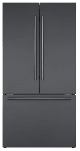 """B36CT80SNB Bosch 36"""" 800 Series 21 Cu Ft. Counter Depth French Door Refrigerator with VitaFreshPro and Home Connect - Black Stainless Steel"""