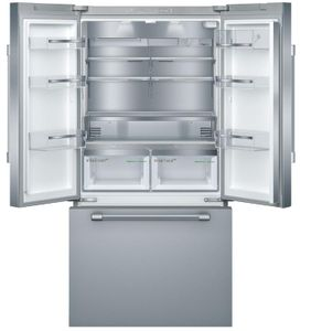 """B36CT81SNS Bosch 36"""" 800 Series 21 Cu Ft. Counter Depth French Door Refrigerator with VitaFreshPro and Home Connect - Stainless Steel with Pro Style Handel"""