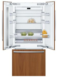 "B36IT900NP Bosch 36"" Benchmark Series Built-In Bottom Freezer Refrigerator with OptiFlex Hinge and Dual Evaporators - Custom Panel"