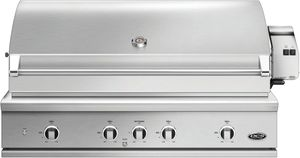 """BE148RCL DCS 48"""" 9 Series Built-In Liquid Propane Gas Grill with Charcoal Smoker Tray and Heavy Duty Infrared Rotisserie - Brushed Stainless Steel"""