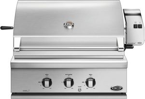 "BH130RL DCS 30"" Built-In Grill with Rotisserie with Full Surface Searing - LP Gas - Stainless Steel"