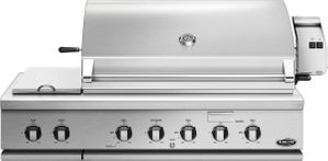 "BH148RSN DCS 48"" Traditional Grill With Rotisserie and Side Burners with Ceramic Radiant Technology - Stainles Steel"