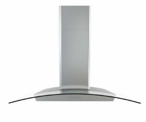 "BMIE30BG Zephyr 30"" Brisas Wall Hood with 600 CFM and Stainless Steel 3 Speed Mechanical Controls - Stainless Steel"