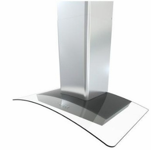 """BMIE30BG290 Zephyr 30"""" Brisas Curved Glass Wall Hood with 290 CFM and Stainless Steel 3 Speed Mechanical Controls - Stainless Steel"""