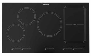 "BSR36INDTOUCH Blue Star 36"" Touch Induction 5 Element Cooktop with Rapid Heat Accelerator and Power Boost - Black"