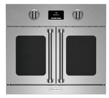 "BSEWO30ECSDV2 Bluestar 30"" French Door Swing Single Electric Wall Oven with Infrared Broiler - Stainless Steel"