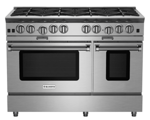 "BSP488BN BlueStar Platinum Series 48"" Freestanding Gas Range - 8 Burners - Stainless Steel"