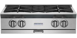"BSPRT304B Blue Star 30"" Platinum Series 4 Burner Rangetop with PrimeNova Open Burners and Interchangeable Griddle Char broiler - Stainless Steel"