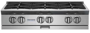 "BSPRT366B Blue Star 30"" Platinum Series 6 Burner Rangetop with PrimeNova Open Burners and Interchangeable Griddle Char broiler - Stainless Steel"