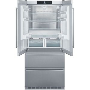 """CBS2082 Liebherr 36"""" Freestanding Semi Built In French Door Counter Depth Refrigerator with NoFrost and BioFresh  - Stainless Steel"""