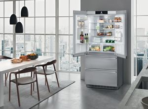 "CBS2082 Liebherr 36"" Freestanding Semi Built In French Door Counter Depth Refrigerator with NoFrost and BioFresh  - Stainless Steel"