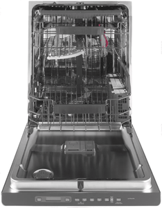 """CDT706P2MS1 Cafe 24"""" Fully Integrated Dishwasher with Bottle Jets and Hidden Vent with Fan Dry - Stainless Steel with Brushed Stainless Handle"""