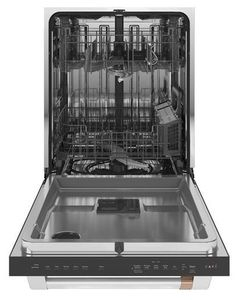 "CDT800P2NS1 Cafe 24"" Stainless Interior Built-In Dishwasher with Hidden Controls and Ultra Dry - Stainless Steel with Brushed Stainless Handle"