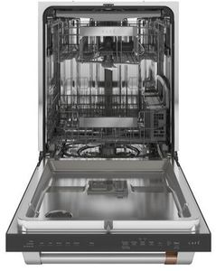 """CDT805P2NS1 Cafe 24"""" Built-In Dishwasher with 140 UltraWash & Dry and Wash Zones - Stainless Steel with Brushed Stainless Steel Handle"""