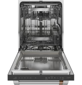 "CDT805P2NS1 Cafe 24"" Built-In Dishwasher with 140 UltraWash & Dry and Wash Zones - Stainless Steel with Brushed Stainless Steel Handle"