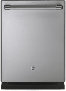 """CDT836P2MS1 GE Cafe 24"""" Fully Integrated Dishwasher with 140 Cleaning Jets and Deep Clean Silverware Jets - Stainless Steel with Brushed Stainless Handle"""