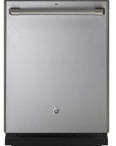 """CDT836P2MS1 Cafe 24"""" Fully Integrated Dishwasher with 140 Cleaning Jets and Deep Clean Silverware Jets - Stainless Steel with Brushed Stainless Handle"""