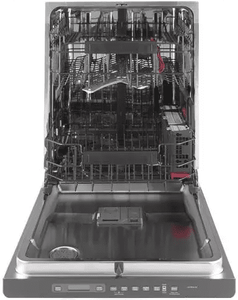 """CDT836P3MD1 Cafe 24"""" Fully Integrated Dishwasher with 140 Cleaning Jets and Deep Clean Silverware Jets - Matte Black with Brushed Stainless Handle - CLEARANCE"""