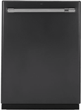 """CDT836P3MD1 GE Cafe 24"""" Fully Integrated Dishwasher with 140 Cleaning Jets and Deep Clean Silverware Jets - Matte Black with Stainless Handle"""