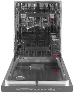 "CDT836P4MW2 Cafe 24"" Fully Integrated Dishwasher with 140 Cleaning Jets and Deep Clean Silverware Jets - Matte White with Brushed Bronze Handle"