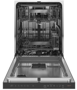 "CDT845M5NS5 Cafe 24"" Modern Glass Collection Built-In Dishwasher with UltraWash & Dry and Wash Zones - Platinum Glass"