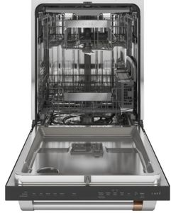 "CDT845P3ND1 Cafe 24"" Built-In Dishwasher with UltraWash & Dry and Wash Zones - Matte Black with Brushed Stainless Steel Handle"