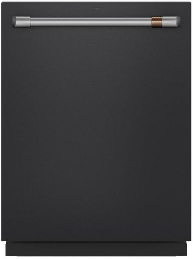 "CDT845P3ND1 Cafe 24"" Built-In Dishwasher with 140 UltraWash & Dry and Wash Zones - Matte Black with Brushed Stainless Steel Handle"