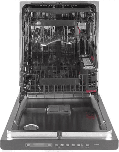 "CDT866P3MD1 GE Cafe 24"" Fully Integrated Dishwasher with 140 Cleaning Jets and Wi-Fi Connect - Matte Black with Brushed Stainless Handle"