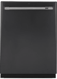 "CDT866P3MD1 Cafe 24"" Fully Integrated Dishwasher with 140 Cleaning Jets and Wi-Fi Connect - Matte Black with Brushed Stainless Handle"