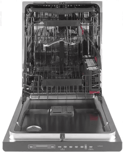 """CDT866P4MW2 GE Cafe 24"""" Fully Integrated Dishwasher with 140 Cleaning Jets and Wi-Fi Connect - Matte White with Brushed Bronze Handle"""