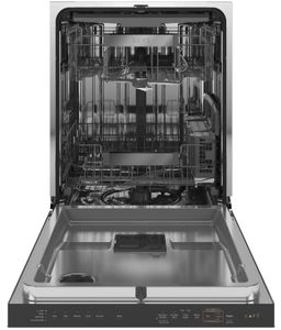 "CDT875M5NS5 Cafe 24"" Modern Glass Collection Built-In Hidden Control Dishwasher with UltraWash & Dry Plus and WiFi Connect - Platinum Glass"