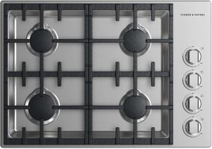 """CDV2304HLN Fisher & Paykel 30"""" Drop-In Cooktop with 4 Burner Halo - Liquid Propane - Stainless Steel"""