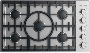 "CDV2365HNN Fisher & Paykel 36"" Drop-In Cooktop with 5 Burners and a Halo - Natural Gas - Stainless Steel"