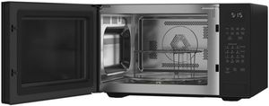 "CEB515M2NS5 Cafe 22"" Modern Glass Collection Countertop Convection Microwave with WiFi Connect and Scan to Cook Technology - Platinum Glass"