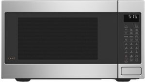 """CEB515P2NSS Cafe 22"""" Countertop Convection Microwave with WiFi Connect and Scan to Cook Technology - Stainless Steel"""