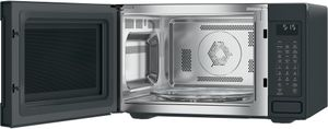 "CEB515P3MDS Cafe 22"" Countertop Convection Microwave Oven with Recessed Turn Table and Auto Bake - Matte Black - CLEARANCE"