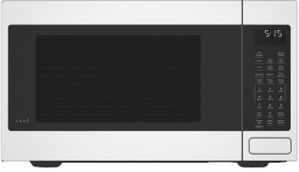 """CEB515P4NWM Cafe 22"""" Countertop Convection Microwave with WiFi Connect and Scan to Cook Technology - Matte White"""