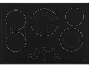 """CEP90301NBB Cafe 30"""" Built In Electric Cooktop with 5 Elements and Touch Controls - Matte Black"""