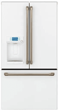 "CFE28TP4MW2 GE Caf� 36"" French Door Refrigerator with Showcase LED Lighting and Wi-Fi Connect - White Matte"