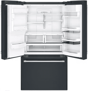 """CFE28UP3MD1 Cafe 36"""" French Door Refrigerator with Keurig K-cup Brewing System - Matte Black"""