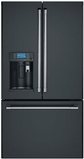 "CFE28UP3MD1 GE  Cafe 36"" French Door Refrigerator with Keurig K-cup Brewing System - Matte Black"