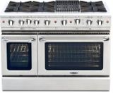 """CGSR484B2N Capital Culinarian Series 48"""" Self-Clean Gas Range with 6 Open Burners and 12"""" Grill - Stainless Steel"""