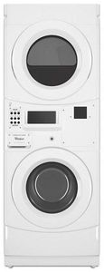 "CGT9100GQ Whirlpool 27"" Card Ready Gas Commercial Combination Stacked Washer and Dryer with Powerful Drive System and Automatic Load Balancing - White"