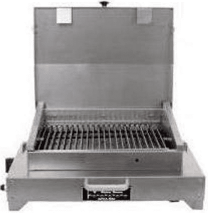 CHFRLP TEC Cherokee FR Portable Tabletop Gas Grill with Fuel Efficient Infrared and Fuel Efficient Infrared - Stainless Steel