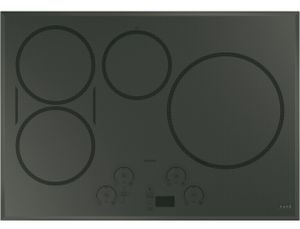 "CHP95302MSS Cafe 30"" Built-In Touch Control Induction Cooktop with 4 Induction Elements and Wifi Connect - Gray"