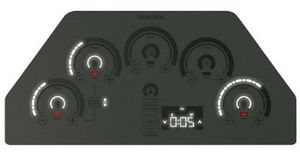 "CHP95362MSS Cafe 36"" Built-In Touch Control Induction Cooktop with 5 Induction Elements and Wifi Connect - Gray"